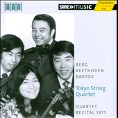 The Tokyo String Quartet: Quartet Recital, 1971: Berg, Beethoven, Bart&#243;k