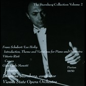 Jonathan Sternberg Collection Vol. 2 - Schubert/Hoiby: Introduction, There & Variations for Piano & Orchestra; Rieti; Menotti