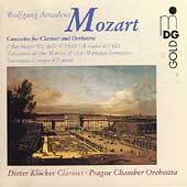 Mozart: Concertos for Clarinet / Kl&ouml;cker, Prague CO