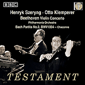 Beethoven: Violin Concerto;  Bach / Szering, et al