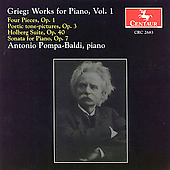 Grieg: Works for Piano Vol 1 / Antonio Pompa-Baldi