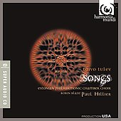 Tulev: Songs / Hillier, Blaze, Estonian Philharmonic Chamber Choir, et al