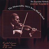 The Memorable 1973 Town Hall Recital - Tartini, Beethoven, Bach, Kreisler, etc / David Nadien, Samuel Sanders