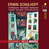 Schulhoff: Divertissement; Concertino; Flute Sonata; Duo; Bass Nightingale / Ensemble Villa Musica
