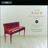 C.P.E. Bach: The Solo Keyboard Music, Vol. 25