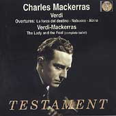 Verdi: Overtures, etc / Mackerras, Philharmonia Orchestra