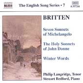 English Song Series 7 - Britten / Langridge, Bedford