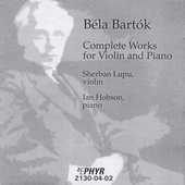 Bart&#243;k: Works for Violin and Piano / Lupu, Hobson