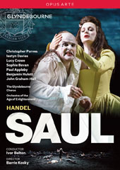 Handel: Saul / Christopher Purves, Iestyn Davies, Lucy Crowe, Sophie Bevan, Paul Appleby, Benjamin Hulett, John Graham-Hall. Orch. Of the Age of Enlightenment, Ivor Bolton (Glyndebourne, 2015) [DVD]