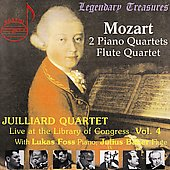 Library of Congress Vol 4 - Mozart: Quartets / Foss, Baker