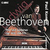 Beethoven: The last sonatas Op 109, 110, 111 / Paul Komen