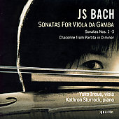 Bach: Sonatas for Viola da Gamba / Innoue, Sturrock