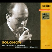 Solomon plays Beethoven, Schumann, Bach & Chopin