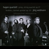 Grieg: String Quartet; Brahms: Clarinet Quintet / J&ouml;rg Widmann, clarinet; Hagen Quartet