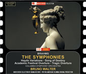Brahms: The 4 Symphonies; Tragic Overture; Academic Festival Ov.; Song of Destiny / Bruno Walter