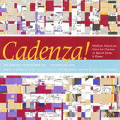 Cadenza!: Modern American Duos for Clarinet or Basset Horn & Piano by Copland, Carter, McDonald, Berger, Wyner / Ray Jackendoff, clarinet; John McDonald, piano