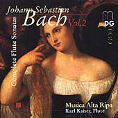 Bach: Complete Flute Sonatas Vol 2 /Kaiser, Musica Alta Ripa