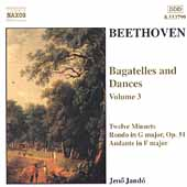 Beethoven: Bagatelles and Dances Vol 3 / Jenö Jandó