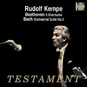 Beethoven: Overtures;  Bach: Orchestral Suite no 3 / Kempe