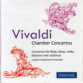 Vivaldi: Chamber Concertos for flute, oboe, violin, bassoon & continuo / Graham Mayger, Sarah Francis, Peter Stevens, Robert Jordan