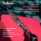 Wolf-Ferrari: Concertinos / Rotman, Loubry, van Bockstal