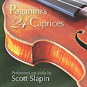 Paganini: 24 Caprices, transcribed for viola / Scott Slapin