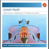 F.J. Haydn: Cello Concertos Nos. 1 & 2; Symphony No. 13; Sinfonia Concertante in B flat major / Stephen Isserlis, cello; CO of Europe, Norrington
