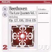 Beethoven: The Late Quartets Vol 1 / Quartetto Italiano