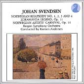 Svendsen: Norwegian Rhapsodies, etc / Andersen, Bergen SO