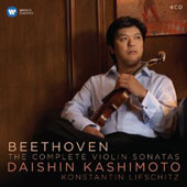 Beethoven: Complete Sonatas for Piano and Violin / Daishin Kashimoto, violin; Konstantin Lifschitz, piano [4 CDs]