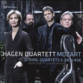 Mozart: String Quartets K.387 & 458 dedicated to Joseph Haydn / Hagen Quartett