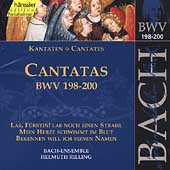 Edition Bachakademie Vol 60 - Cantatas BWV 198-200 / Rilling