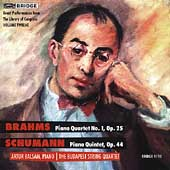 Brahms: Piano Quartet no 1;  Schumann: Piano Quintet /Balsam
