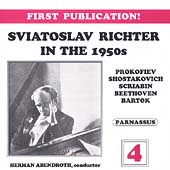 Sviatoslav Richter in the 1950s Vol 4 - Prokofiev, et al