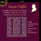 Haydn: Symphonies no 6-8 / Roy Goodman, Hanover Band