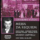 Verdi: Messa da Requiem / Cantelli, Nelli, Tucker, Hines