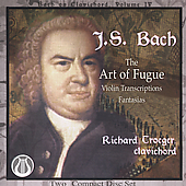 Bach: The Art of Fugue, etc / Richard Troeger