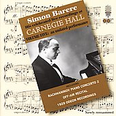 Simon Barere - Live Recordings at Carnegie Hall Vol 5 - 1929
