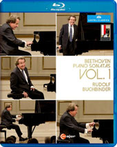 The Complete Beethoven Sonatas, Vol. 1: Sonatas Nos 1, 4, 5, 10, 12, 13, 'Sonata quasi una fantasia', 14, 'Moonlight' 17 'The Tempest', 18, 22 / Rudolf Buchbinder, piano [Blu-ray]
