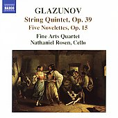 Glazunov: String Quintet, etc / Rosen, Fine Arts Quartet
