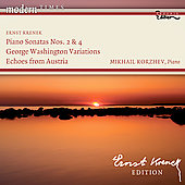 Krenek: Piano Sonatas, 5 Pieces Op. 39, etc / Mikhail Korzhev