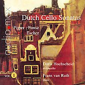 Dutch Cello Sonatas, Vol. 1