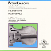 Robert Davidovici - Works by Aitken, Copland, Piston, etc