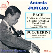 Bach: 6 Suites for Cello Solo; 3 Cello Sonatas; Boccherini: Cello Concerto / Antonio Janigro