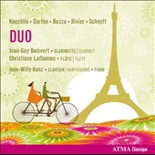 Duo - Works by Koechlin, Cartan, Bozza, Rivier, Schmitt / Jean-Guy Boisvert, clarinet; Christiane Laflamme, flute; Jean-Willy Kunz, harpsichord, piano