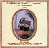 Mozart: The Divertimenti, Vol. 1: Six Divertimenti for oboe, horn & bassoon / Octophoros
