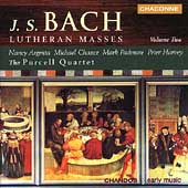 Bach: Lutheran Masses Vol 2 / Argenta, Chance, Harvey, et al