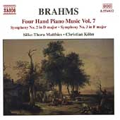 Brahms: Four Hand Piano Music Vol 7 / Matthies, Köhn