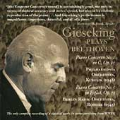 Beethoven: Piano Concertos Nos 1 & 5 / Walter Gieseking, piano (1948 & 1945)