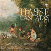 Hasse: Cantatas Vol 1 / Busca, Serafini, Martellacci, Accademia del Ricercare